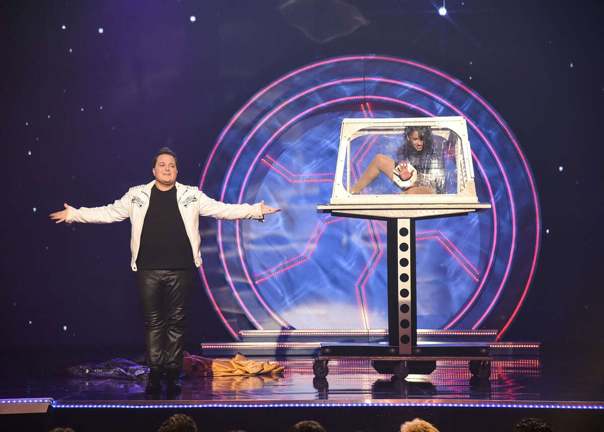 """Masters of Illusion -- """"Card Darts, Speed Magic, and Figaro"""" -- Image MOI603_0003 -- Pictured: Michael Turco -- Photo: (c) 2019 Masters of Illusion, LLC. All rights reserved."""