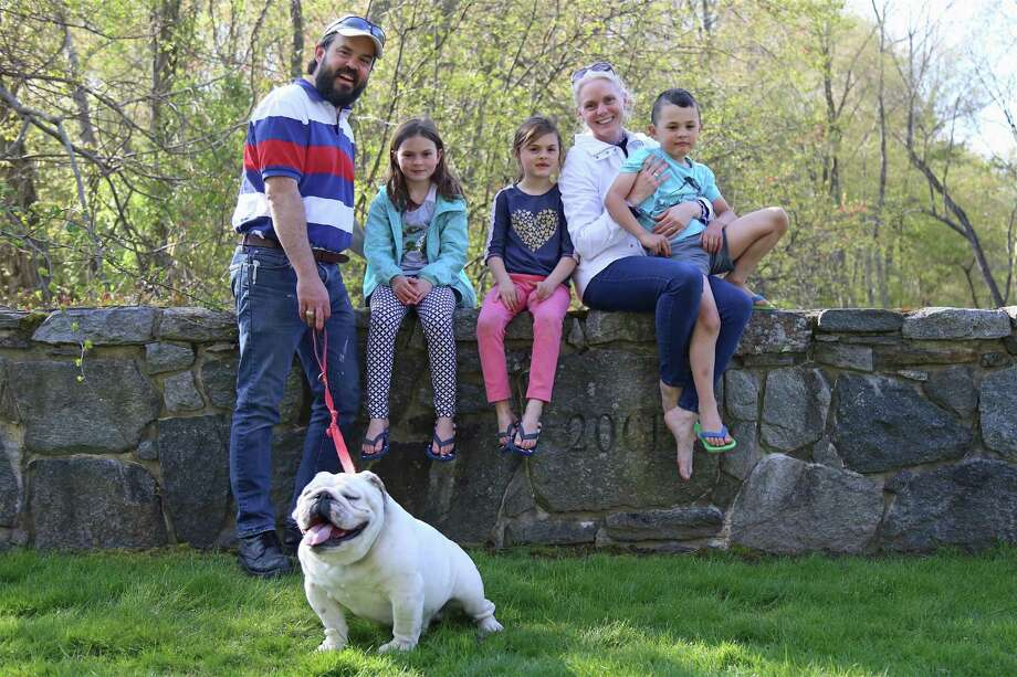 A family portrait including, from left, Pablo Sherwell of Westport, Carolina, 8, Elizabeth, 6, Jennifer Christian, Pablo Jr., 6, and Max, on Mother's Day, May 10, 2020, in Westport, Conn. Photo: Jarret Liotta / Jarret Liotta / ©Jarret Liotta 2020