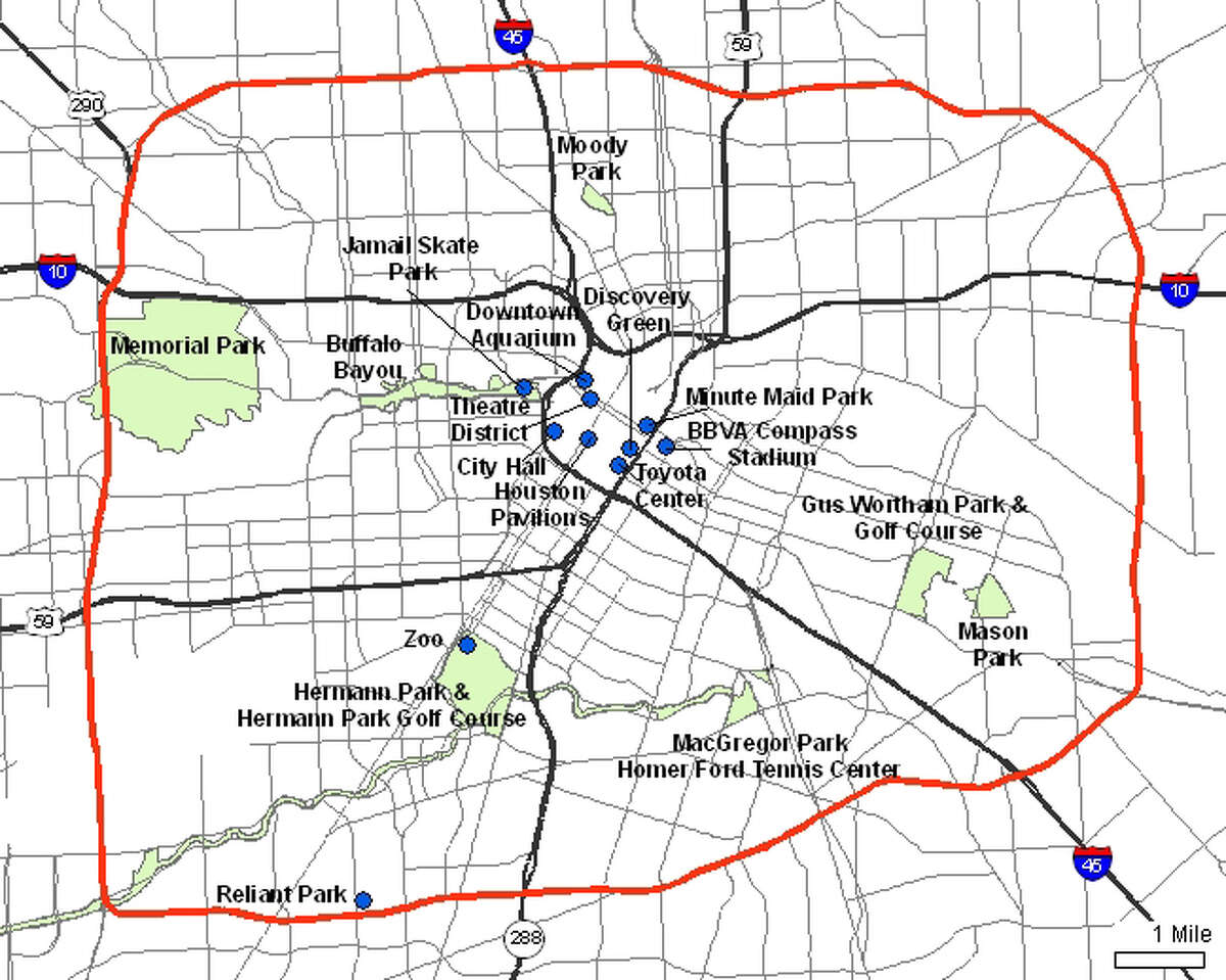 """""""Inside the loop"""" or """"Outside the loop"""". Locals use these terms to refer to either the area within the boundaries of Interstate 610, better known as """"the loop,"""" or outside of it. It's so big, the segments are simply referred to by their cardinal directions."""