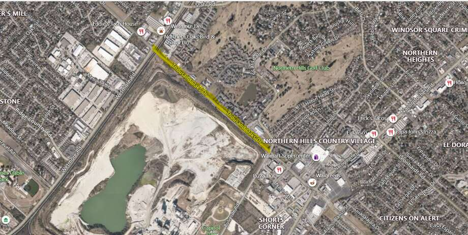 Thousand Oaks Drive between Wetmore Road and Perrin-Beitel Road will be closed to traffic for at least four weeks for street reconstruction and improvements, according to a tweet from San Antonio Public Works. The map shows the location of the closure, Photo: Bing Maps