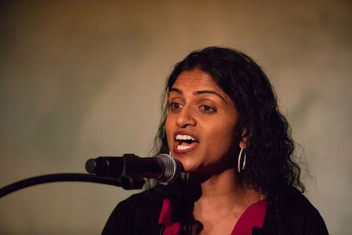 Saru Jayaraman, Co-Founder & President Restaurant Opportunities Centers United, Speaks after winning the Visionary of the Year Award gala on Wednesday, March 27, 2019 in San Francisco, CA.
