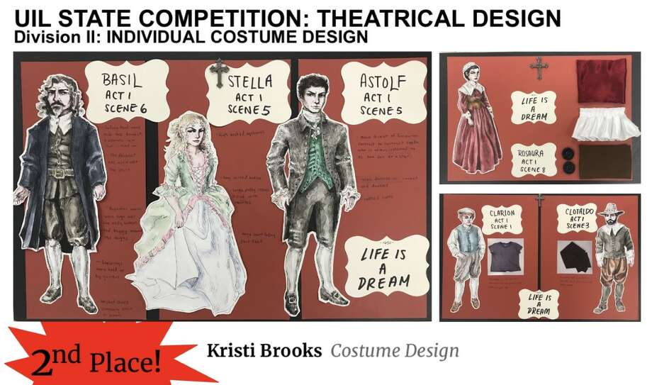 <caption> Shown is the submission which earned Alexander's Kristi Brooks second place in Costume Design at the UIL State Theatrical Design Contest.</caption> Photo: Courtesy Of UISD