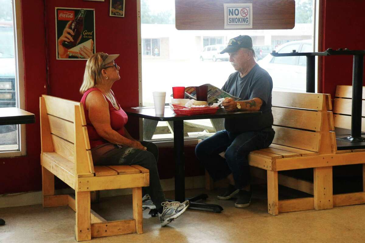 Customers inside the restaurant had to sit with the recommended 6-foot social distancing policy but it didn't seem to bother them. Most were happy to be able to sit down inside their favorite restaurant for a good home-cooked meal.
