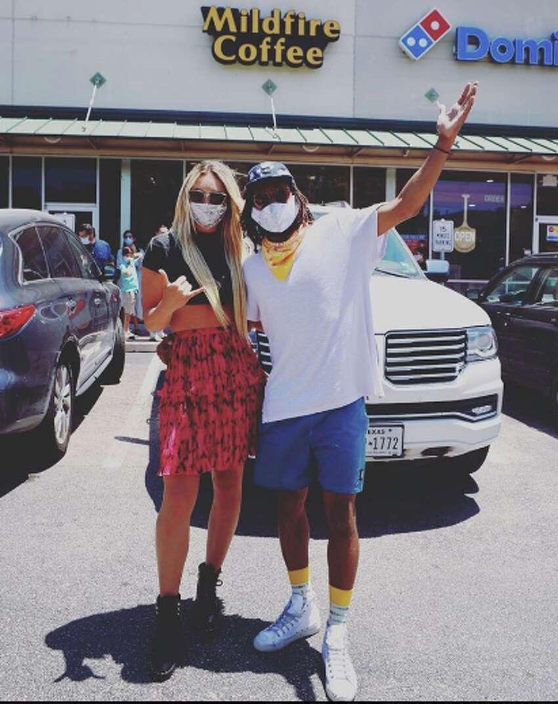San Antonio Spur Patty Mills and his wife Alyssa.