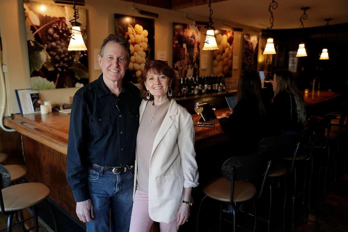 Owners Greg and Deborah O'Flynn at California Wine Merchant in San Francisco, Calif., on Monday, February 24, 2020.