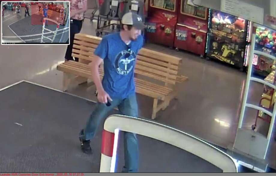 The man has since been identified. Photo: H-E-B Surveillance Footage/Leander Police Department