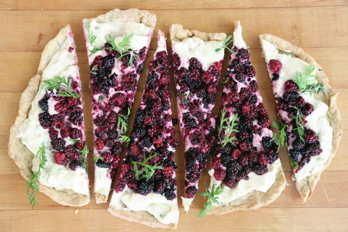 Dewberry Galette by chef Anita Jaisinghani