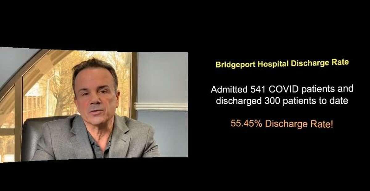 Bridgeport Mayor Joe Ganim on a Facebook Live broadcast on COVID-19