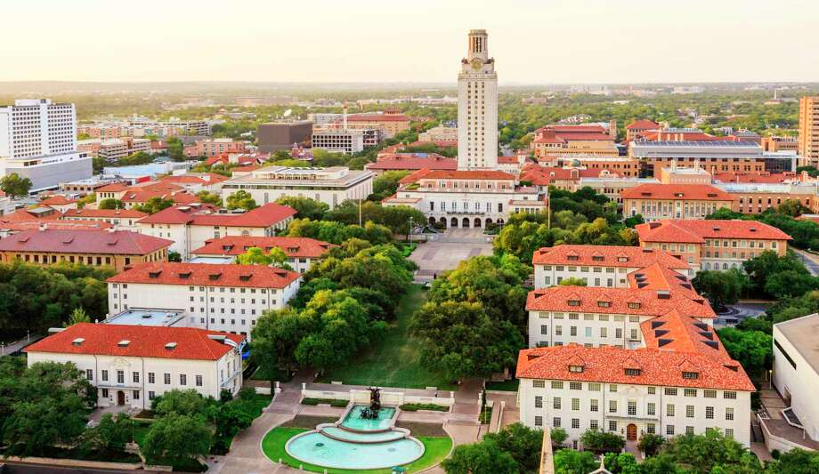 The University of Texas Austin campus is shown in this file aerial photo. Photo: DSCZ, Contributor / Getty Images / David Sucsy