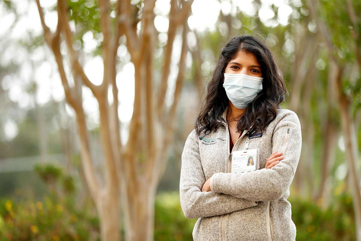 """Dr. Veena Jones at Palo Alto Center in Palo Alto, Calif., on Monday, May 11, 2020. Dr. Jones, co-author of the paper, """"COVI-19 & Kawasaki Disease: Novel Virus & Novel Case,"""" found the first known case in the nation of Kawasaki syndrome linked to COVID-19 in a six-month-old baby."""