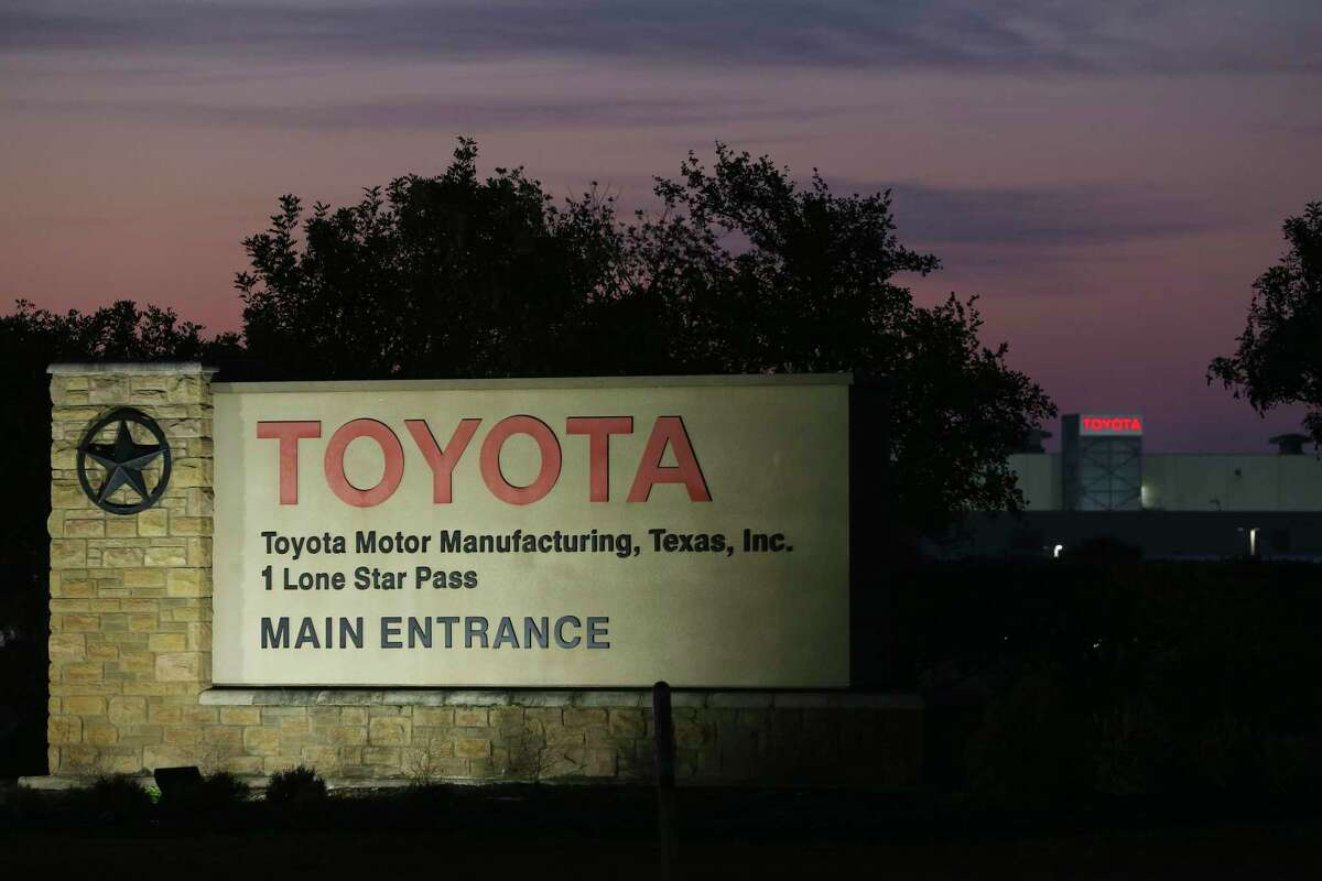 The rising sun backlights the San Antonio Toyota plant, Monday, May 11, 2020. Toyota's 12 plants, including the U.S. and Canada, have been closed since March 23 in what originally was supposed to be a two-day closing to sanitize the plants to protect workers from the coronavirus pandemic. The company planned on reopening the plants on May 4 but pushed the date to May 11.