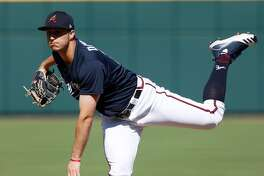 Former Midland College pitcher Tucker Davidson is shown in action pitching in the Atlanta Braves farm system in this undated photo.