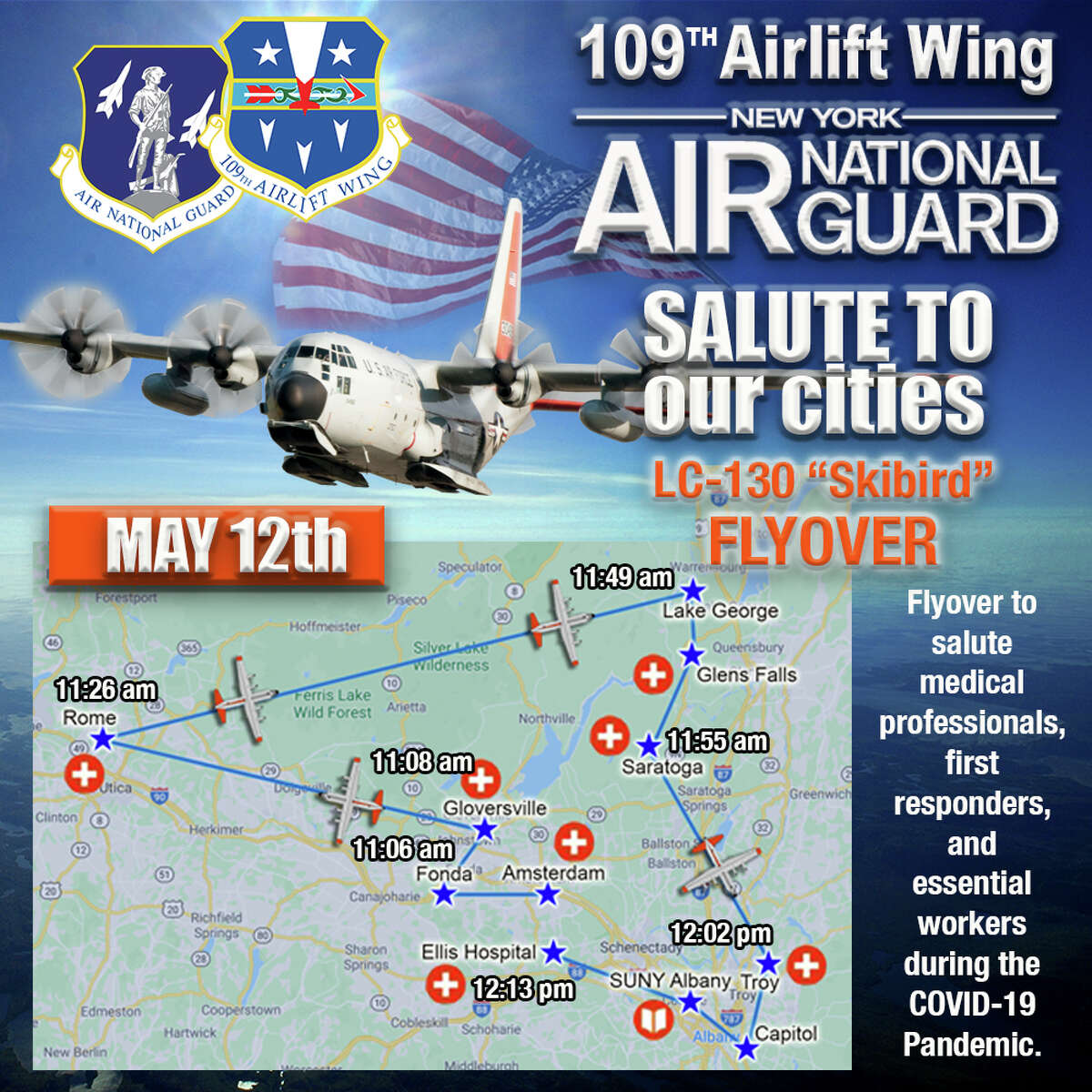 Flyover planned May 12