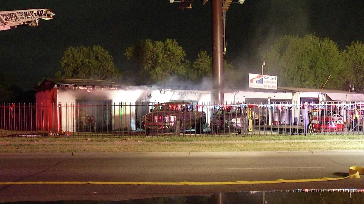 Firefighters battled multiple blazes overnight after fires started at two different San Antonio stores.