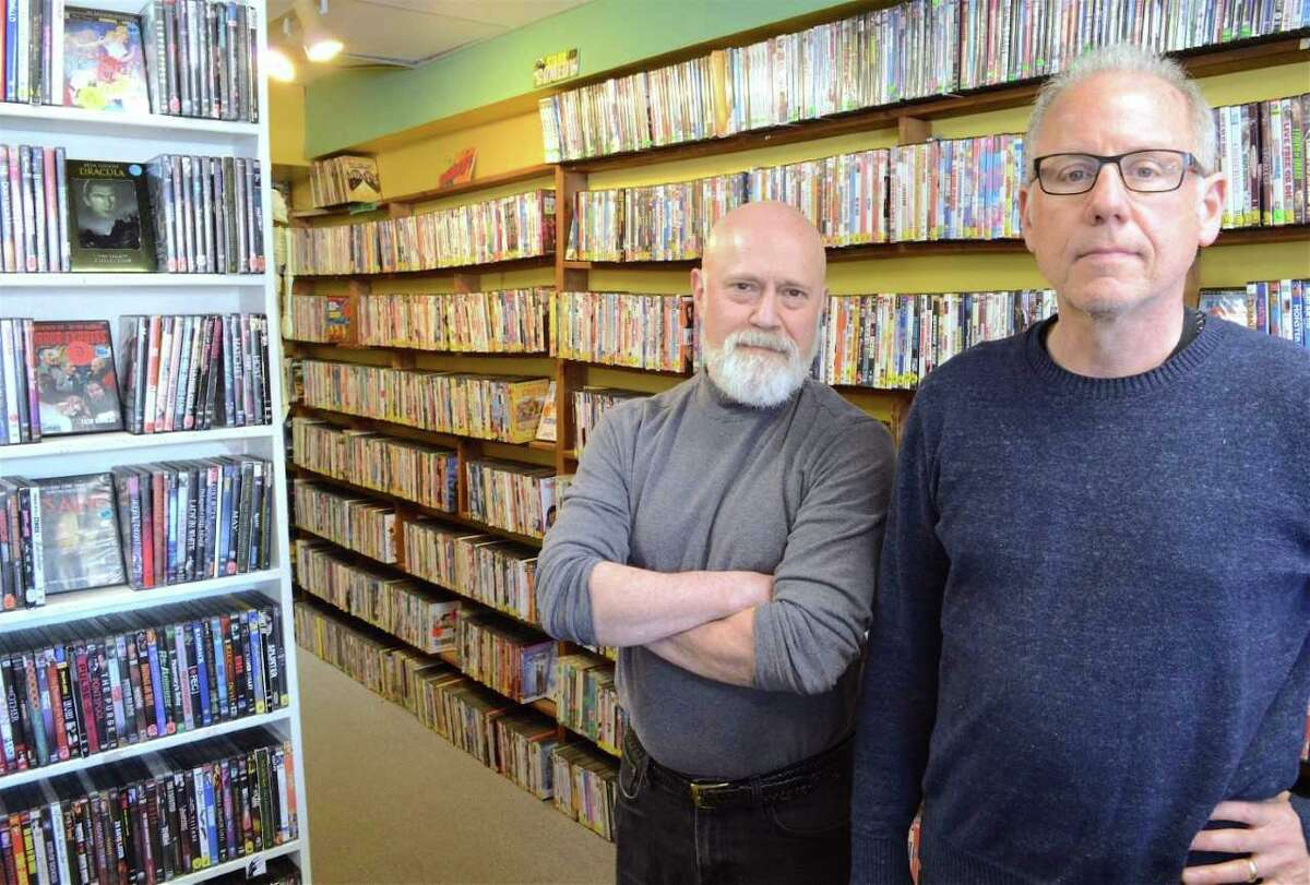 Hank Hoffman, program director, left, and Richard Brown, executive director of Best Video Film and Cultural Center.