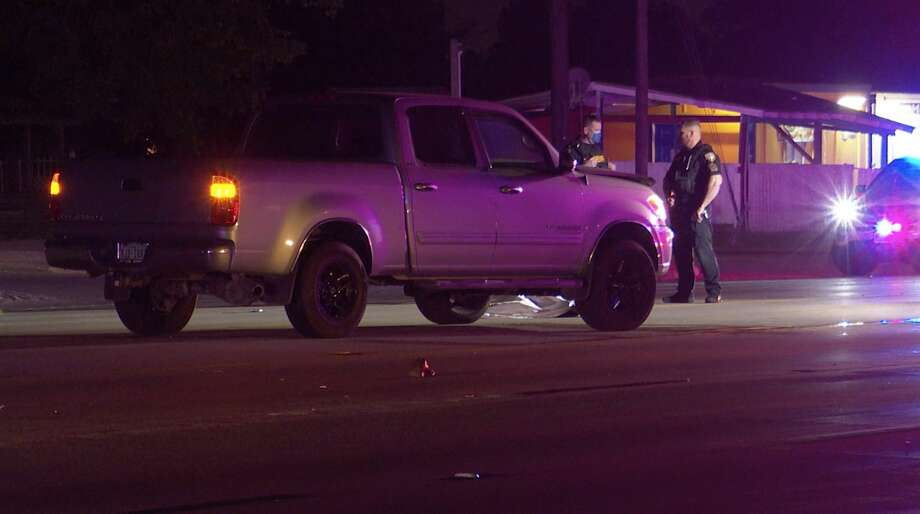 Harris County sheriff's deputies investigate a deadly auto-pedestrian collision along FM 529 near Jackrabbit Road on Tuesday, May 12, 2020. Photo: OnScene.TV