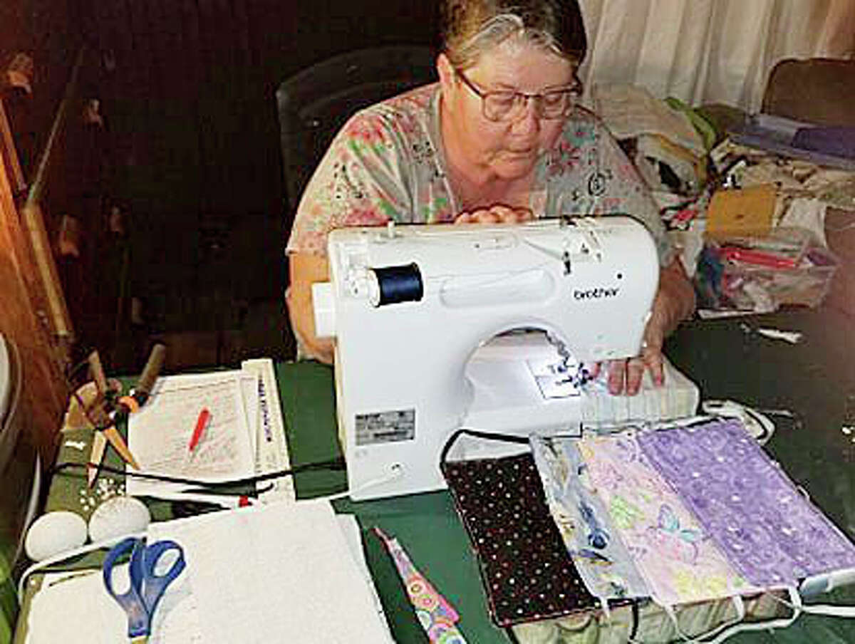 Patsy Alvera has been sewing and donating cloth face masks to area residents for the past several weeks in an effort to prevent the spread of the coronavirus.
