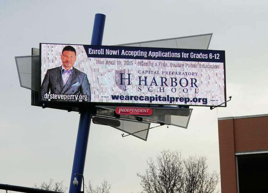In this file photo, an example of digital billboard in Bridgeport, Conn. Photo: Christian Abraham / Hearst Connecticut Media File Photo / Connecticut Post