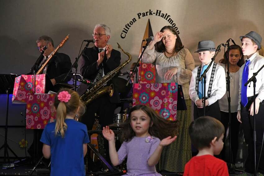 Mother Goose Jazz Band on stage.