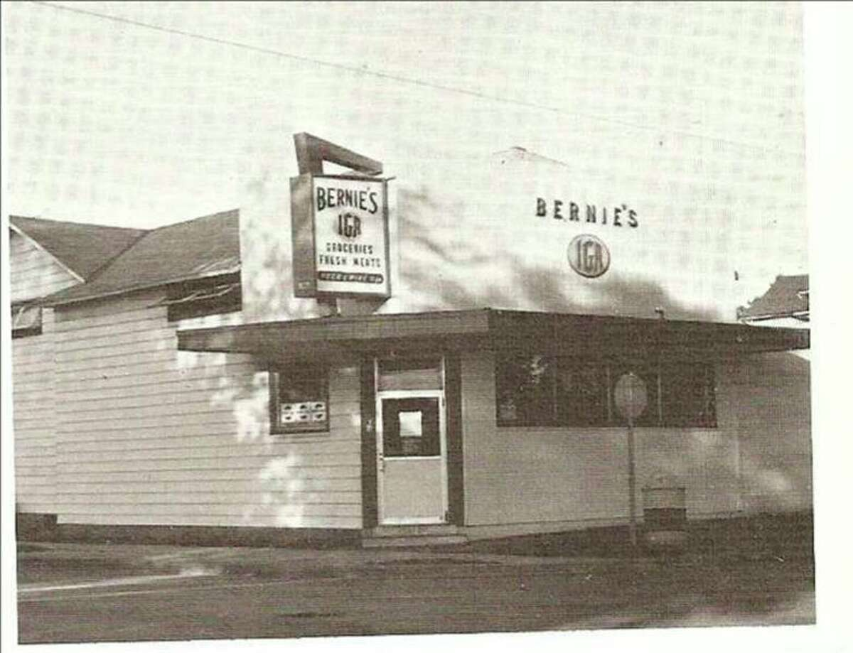 The Bernies IGA Store that was located on U.S. 31 and Third Street was a popular store for many years in Manistee and is shown in this 1960s photograph.