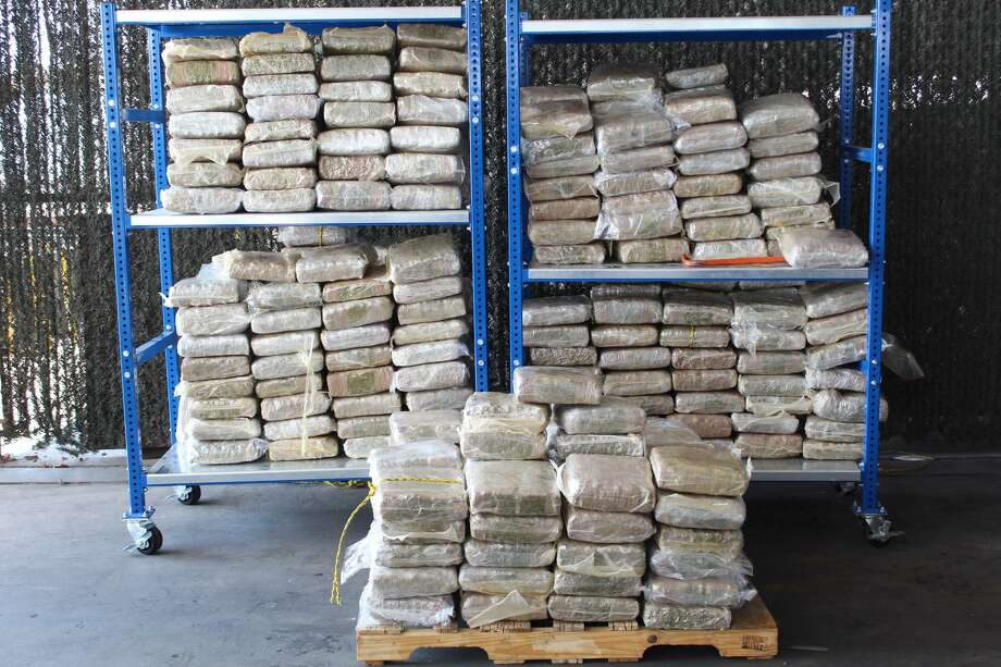 U.S. Customs and Border Protection officers said they recently seized 341 packages containing 1,205.04 pounds of marijuana. The contraband was concealed within a trailer. CBP said the marijuana had an estimated street value of $241,007. Photo: Courtesy Photo /U.S. Customs And Border Protection