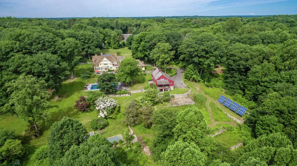 This property of 22.17 acres has geothermal heating and 10 kilowatts of solar panels.