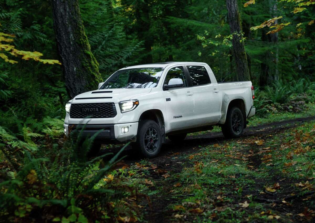The 2020 Toyota Tundra TRD offers a fuel economy of 13 mpg city and 17 mpg highway.
