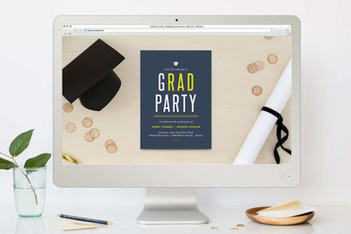 Virtual Party InvitationsFirst things first, you'll need to invite your graduation party guests! Having to host a virtual party should give you more incentive to have a party invitation. You want to make sure your grad feels like this party is official, even if it isn't exactly traditional. You can get online party invitations from a site like Minted, where each invite is created by an independent artist. You can also use a website like Evite to set up your virtual party invitations. Make sure it's clear on the invitation how you're hosting this grad party online. Are you inviting everyone to a Zoom party? Are you all iPhone users that can FaceTime each other? Having everyone join together on GoToMeeting? Or are you inviting them to a Google Hangout? Heck, are you going live on Facebook? Do your best to be clear on the instructions, and make sure someone can help older loved ones figure out how to join.