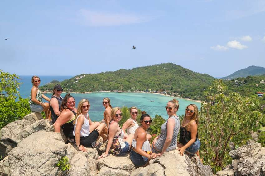 Alex Baackes led a group of women on a weekly Wandering Woman Retreat in Koh Tao that ended on March just before the island was completely locked down (Provided photo)