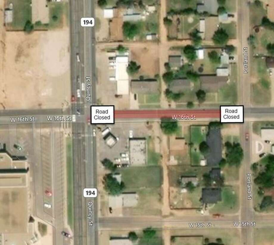 The road closure is expected to last through Tuesday only. Photo: City Of Plainview