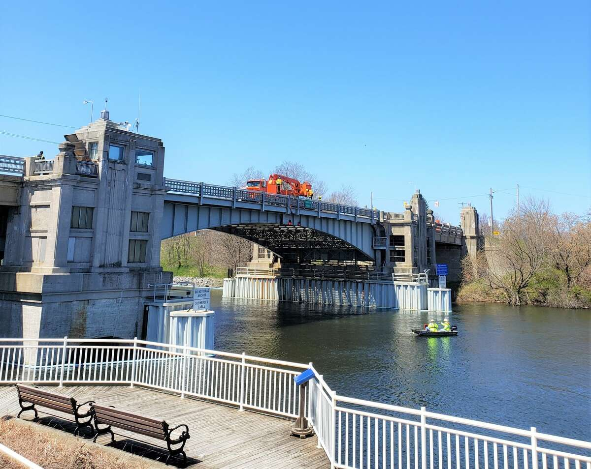 Memorial Bridge was closed to traffic and pedestrians Tuesday as crews worked to repair and assess damage after the bridge's system experienced a brown out earlier that morning.