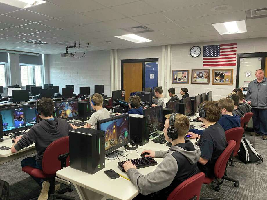 The wave of the future is esports. There are scholarships for gamers, a variety of carers, and competitions playing for high-stakes money. Cass City started an after schoolesports club that is coordinated by Reed Keyser at the far right. (Courtesy Photo)