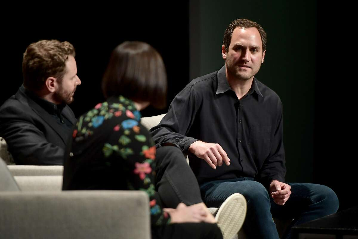 SAN FRANCISCO, CA - OCTOBER 15: Sandra Upson, Sean Parker and Alex Marson speak onstage at WIRED25 Summit: WIRED Celebrates 25th Anniversary With Tech Icons Of The Past & Future on October 15, 2018 in San Francisco, California.