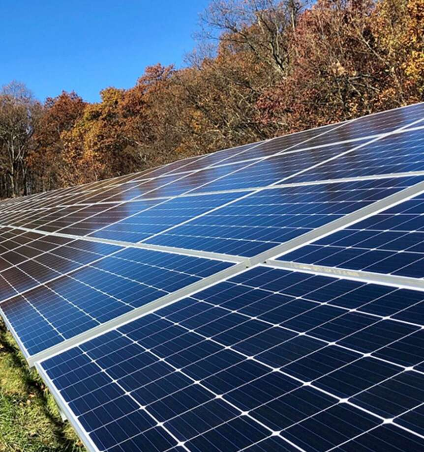 Verogy, a solar energy company, is applying to install a solar panel array on property on East Pearl Road in Torrington. Photo: Verogy / Contributed Photo
