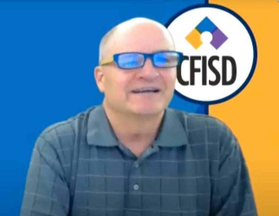 Superintendent Mark Henry during a virtual meeting of the Cy-Fair ISD board of trustees on May 11, 2020. Photo: Cy-Fair ISD
