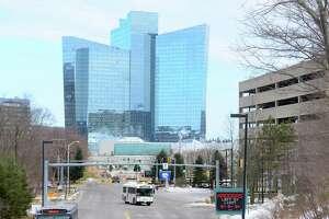Exterior view of Mohegan Sun Casino in Uncasville, Conn., in a file photo.