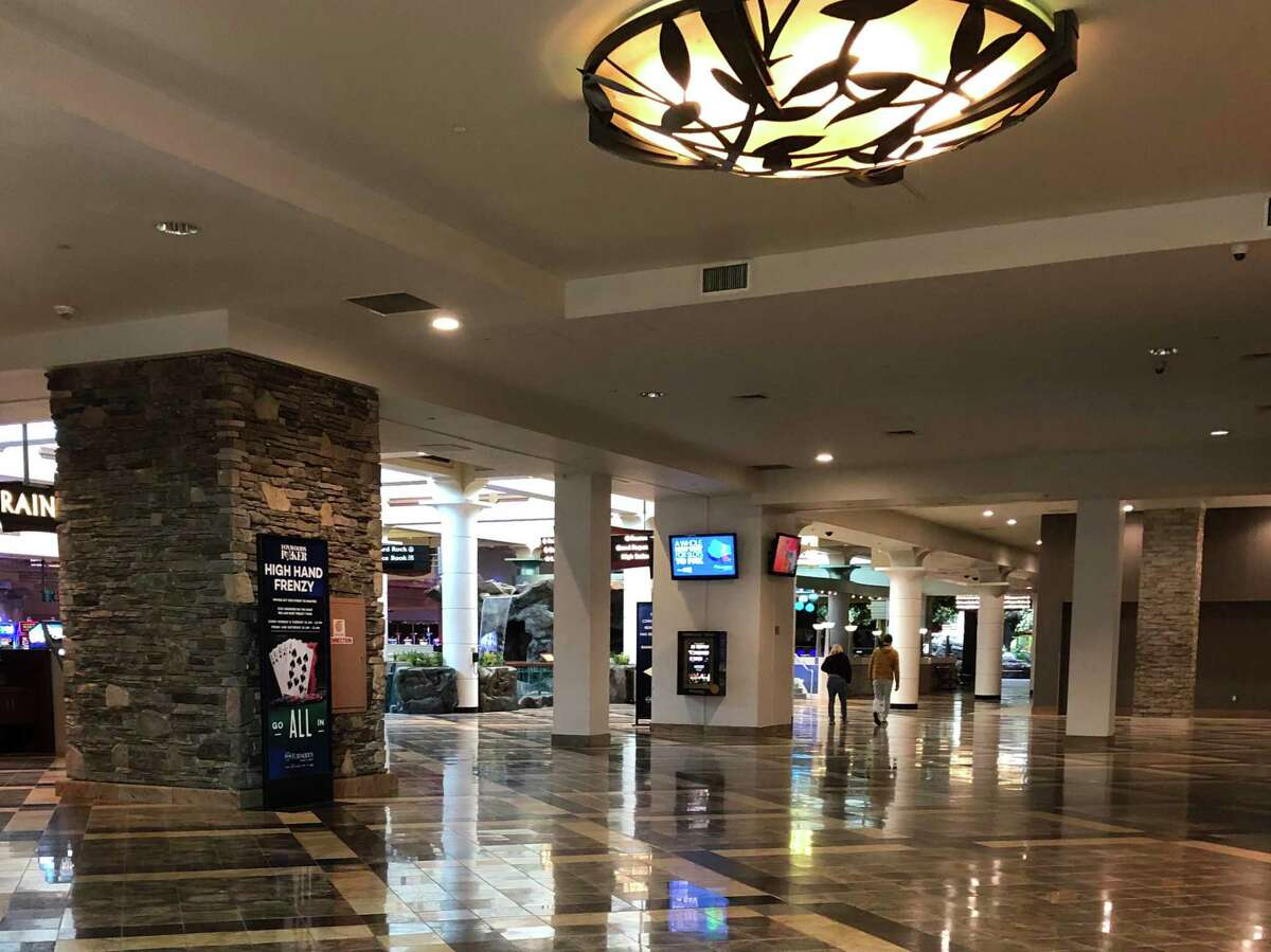 Parts of Foxwoods Resort Casino were nearly empty on March 16, a day before the casino closed until at least late May.