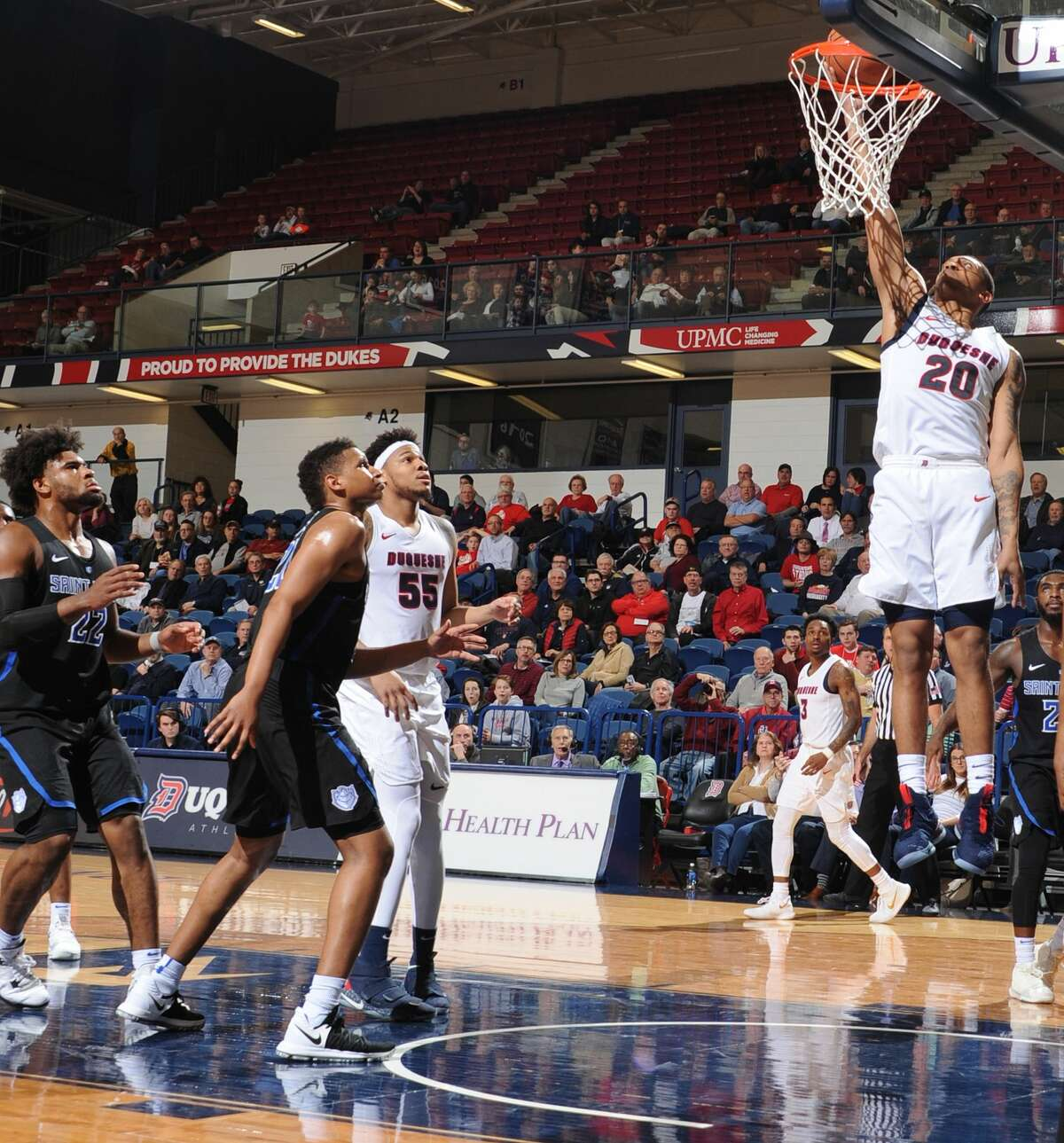 Duquesne University basketball player Kellon Taylor, who announced May 13, 2020, that he will be transferring to the University at Albany. (Duquesne athletics)
