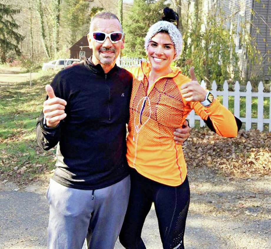 Robert Hurd of Middletown, left, owns Snap Fitness in Portland. His daughter Taylor Arrigoni, right, runs the GoToFitness Ultimate Training Center in Middletown. Like small businesses across Connecticut and the nation, these father/daughter entrepreneurs are afraid they'll have to shut down if the governor doesn't allow gyms to reopen soon. Photo: Contributed Photo