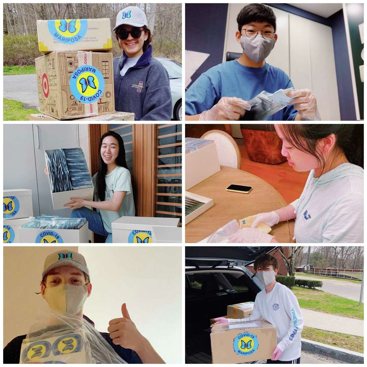 A group of Rumsey Hall School graduates, led by student Elina Choi, founded the Mariposa Mask Initiative and have given away more than 2,000 masks and raised more than $8,000 to help others during the pandemic.