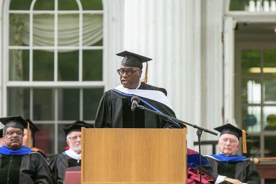Albertus Magnus College commencement in 2018. Photo: Hearst Connecticut Media File / (C)John H.Vanacore