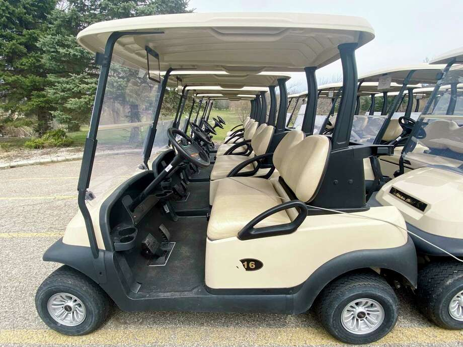 With golf carts permitted once again, local courses will take measures to maintain their sanitation. (Pioneer photo/Joe Judd)