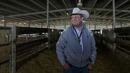 Joel Cowley, president and CEO of the Houston Livestock Show and Rodeo, tours a holding facility where Houston Livestock Show and Rodeo show animals are kept until their scheduled event, Thursday, March 8, 2018, in Houston. ( Jon Shapley / Houston Chronicle )