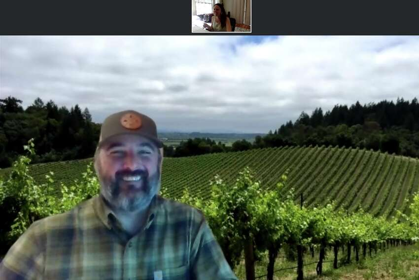 While some wineries are hosting Facebook lives and big virtual tastings that anyone can join (though you'll have to buy the wine before in order to participate properly), Puppione said that's not really authentic to their winery experience. After a bit of quarantine-stinks-hows-the-weather small talk, Puppione starts with a little bit of history about the winery and adds some geography for context and probably because I'm local-ish enough to understand it. The winery is small and doesn't sell in stores - there's normally only nine employees during normal times - and they focus on Cabernet Sauvignons and Zinfandels. Then, he shares his screen to show me a video of the wine production, featuring their winemaker and more beautiful shots of the property. Choppiness coming from sharing a video on Zoom probably makes this part not worth it, and it's also a little awkward and I feel compelled to ooh and ahh even though it's just the same old grape picking then grape pressing then bottling that you see in every winemaking video.