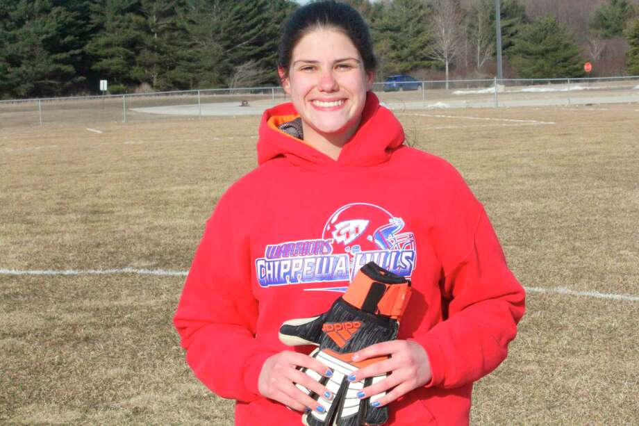 Chippewa Hills' Isabel Bitler gets ready for a game last season. (Pioneer file photo)