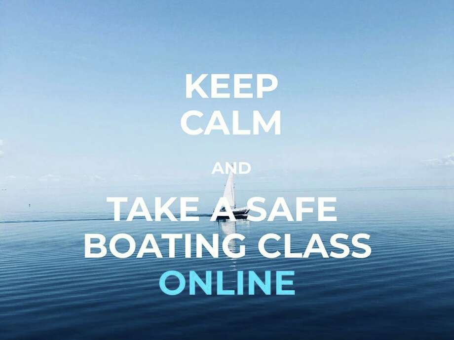 A photo posted on the Boating in Connecticut Facebook page along with the message about online boating class availability. Photo: Contributed Photo / Boating In Connecticut Via Facebook