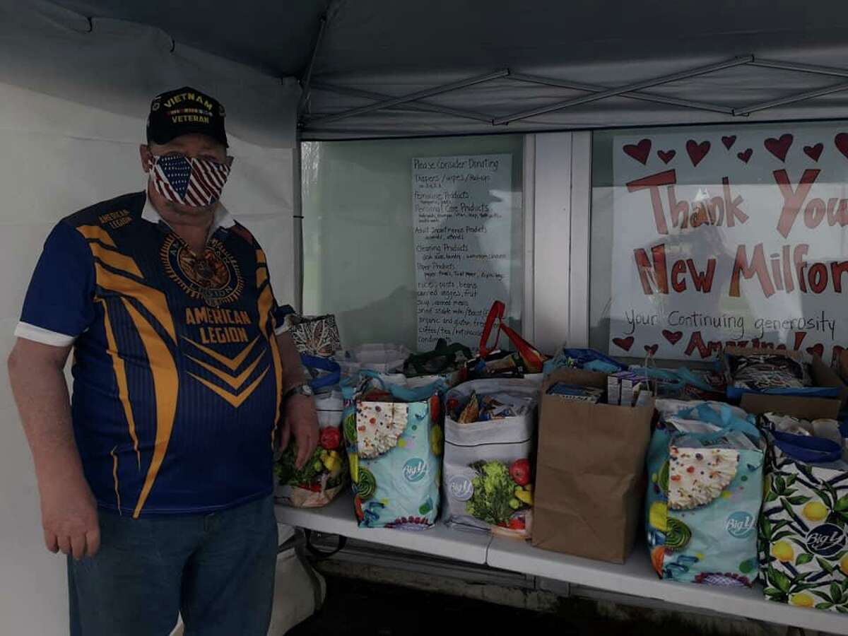 """The Ezra Woods Post 31 American Legion in New Milford is continuing its effort to serve the community during the coronavirus pandemic. The American Legion recently made a large food donation to the town's food bank. """"Our goal is always serving the community, state and nation,"""" said Commander Jeff McBreairty. """"We hope all the food items will be enjoyed by many residents in New Milford."""""""
