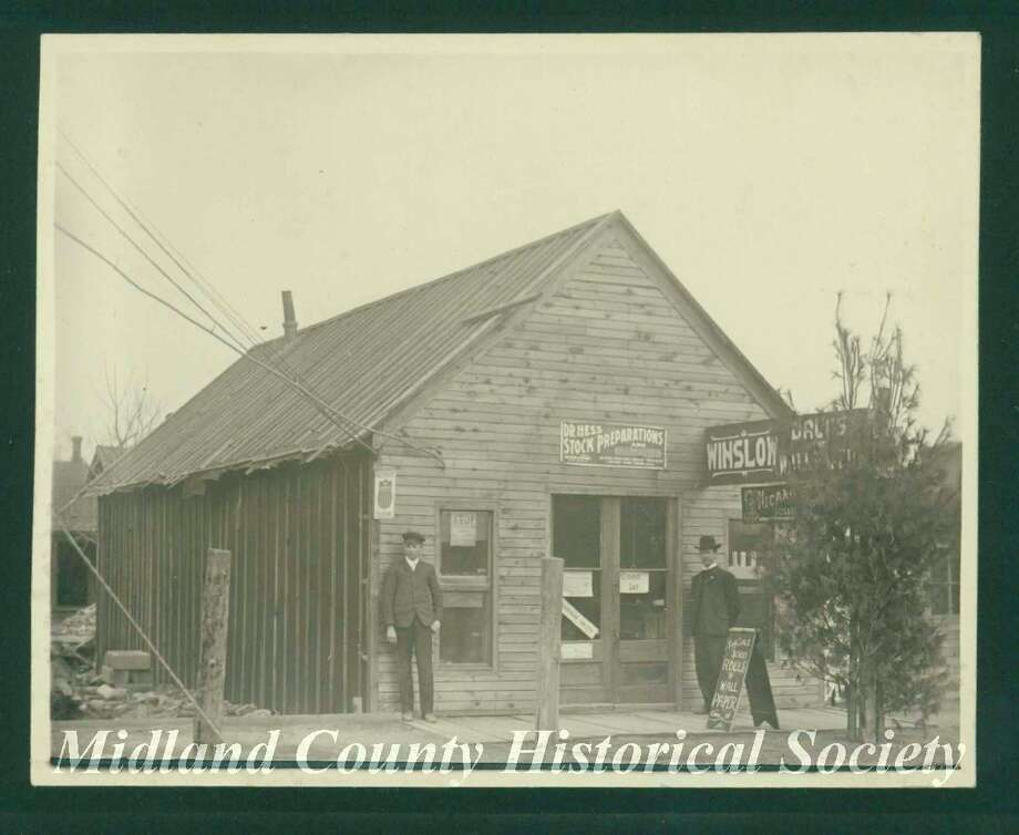 C.J. Winslow Store, later owned by Charles Winslow. (Midland County Historical Society)
