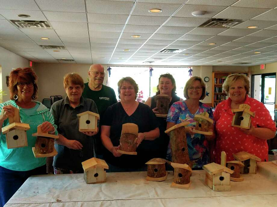 Benzie Senior Resources runs The Gathering Place Senior Center, where seniors can gather for activities like congregate meals and classes, such as one on making bird houses. (Courtesy photo)
