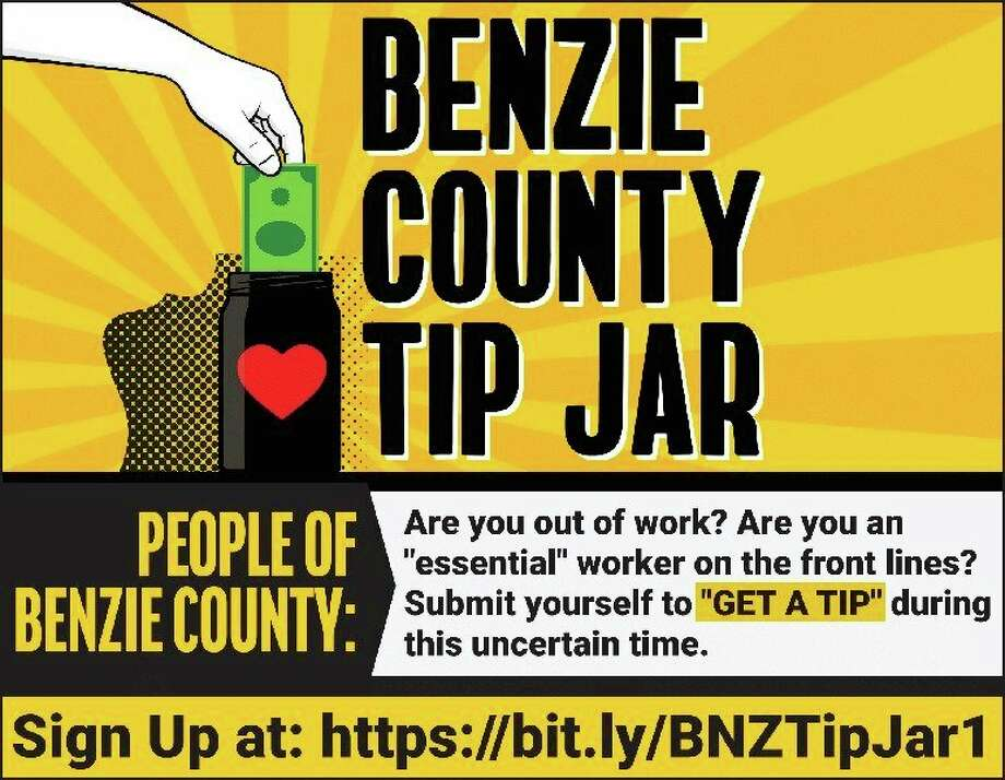Benzie County residents worked with a former resident to create the Benzie County Tip Jar, a website where people can donate to area workers feeling financial strain, or sign up to receive donations. (Courtesy photo)